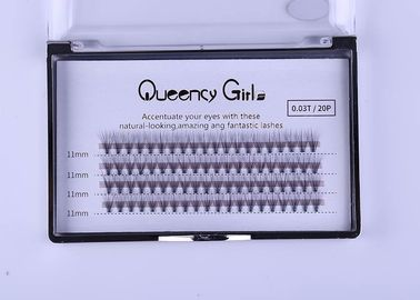 0,03mm 20D Cluster Eyelash Extensions, Volume Individual Lashes 8mm - 12mm Length